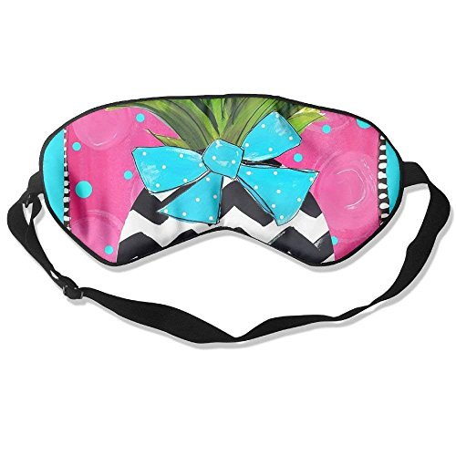 Mulberry Silk Sleep Mask And Blindfold Welcome Pineapple Comfortable And Super Smooth Eye Mask With Adjustable Strap