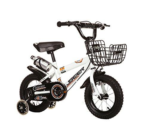 Kinderfahrräder Guo shop, Kinder 4-6-8-11 Jahre alt Jungen und Mädchen 12/14/16/18 Zoll Mountainbike (Farbe : Weiß, größe : 12 Zoll)