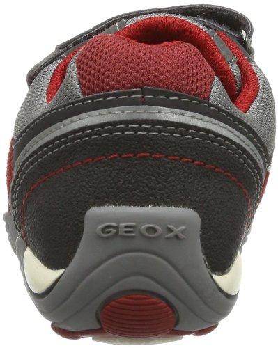 Geox  JR ARNO A, Baskets pour garçon Gris - Grau (GREY/RED C0051)