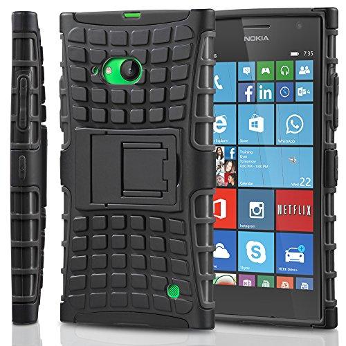 Fosmon HYBO-RAGGED Abnehmbar Hybride TPU + PC Case Cover hülle für Nokia Lumia 735 - Schwarz