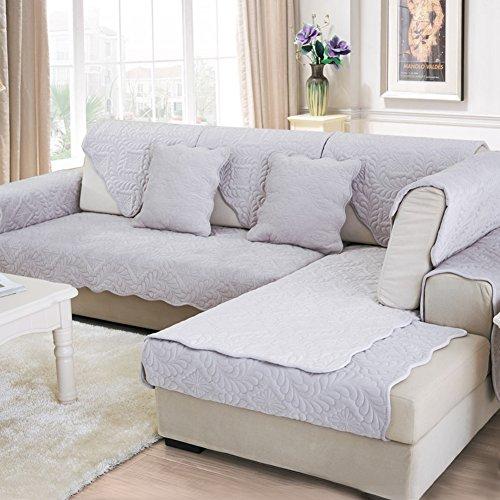 Scedgjdvxbb fodera per divano peluche,tessuto anti-scivolo copridivano semplice e moderno divano europeo gli slipcovers per soggiorno divano copre per divano in pelle-grigio 70x150cm(28x59inch)