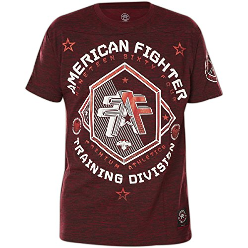 American Fighter by Affliction T-Shirt Sioux Falls Weinrot, XL (Fighter Rot T-shirt American)