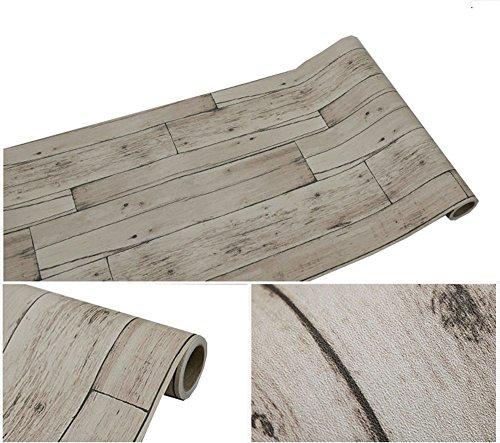 Kunst & Handwerk-schrank-schublade (Selbstklebend Vintage grau Holz Panel Muster Kontakt Papier für Küche Schränke Regale Schublade Wand Kunst und Handwerk Aufkleber 61x 297,2cm)