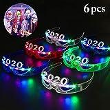 Joyibay LED Brillen, 2020 Brillen Leuchten Lustige New Year Party 2020 Nummer Brillen für Neujahr Party Gefallen Party Dekore(6 Paar)