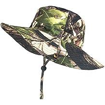 Cappello da Pesca da Caccia Artitan Outdoor Abbigliamento Sportivo Impermeabile Rapido Essiccazione Cappello da Sole Traspirante Camo Boonie Cappello con Largo Strato per Camminare Avventura