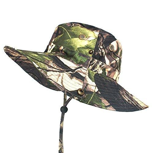 Artitan Outdoor Tarnung Buschhüte Schlapphut mit Kinnband als Safarihut Sonnenhut Gartenhut Campinghut für Herren Damen