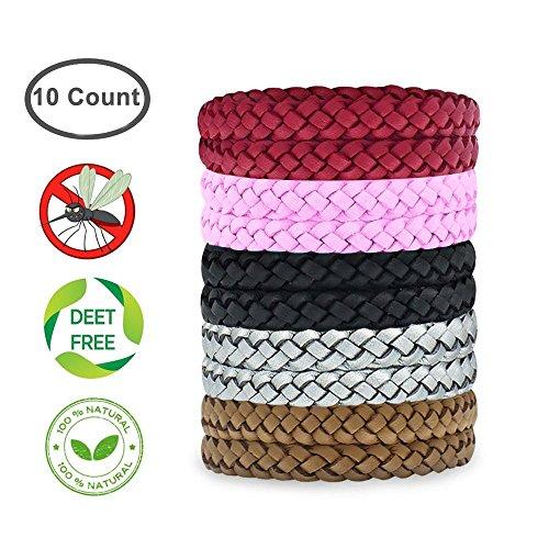 KOBWA Mückenschutz Armband natürliche Deet Frei Insektenschutz Bands, 100% natürlich, Anti Mückenschutz Outdoor & Indoor, Erwachsene & Kinder, in Verschiedenen Farben - Citronella Öl, Mückenschutz