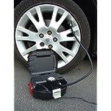 Safari Compresseur d'air / Manomètre en valisette de transport avec lumière de fonctionnement et d'avertissement d'urgence