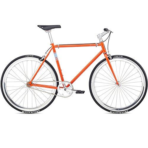 700c Fixie Fuji Declaration Single Speed Bike Fahrrad Eingangrad, Farbe:Orange, Rahmengrösse:61 cm