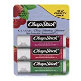 ChapStick Classic Lip Balm , Variety Pack, Cherry, Strawberry & Spearmint 1 Each Of 3 Flavors by AB
