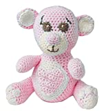 HdK-Versand Häkelset Teddy Bär Baby Komplettpaket mit Gründl Baby Uni, Lisa Wolle, Füllwatte, detaillierter Anleitung, ohne Häkelnadeln (Bär Rosa)