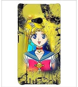 PrintDhaba Princess D-2989 Back Case Cover for MICROSOFT LUMIA 535 (Multi-Coloured)