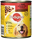 Pedigree Adult Hundefutter Rind, Gemüse und Nudeln - Saftiges Geschnetzeltes, 12 Dosen (12 x 800 g)