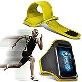 (Yellow) alcatel Pop 4S Fitness Laufen Jogging Radfahren Gymnastik-Armbinde-Halter-Kasten-Abdeckung ONX3®