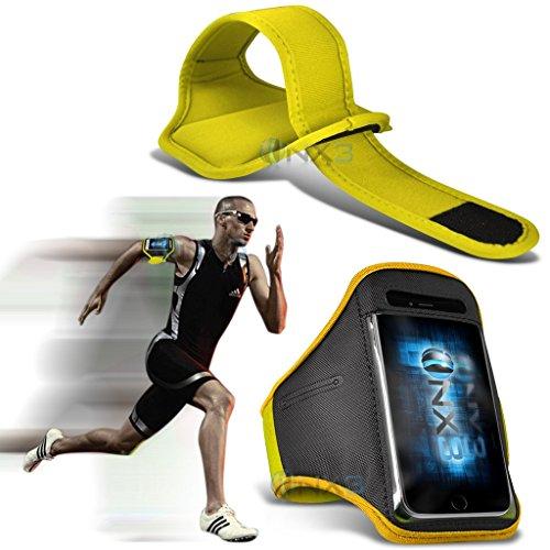 (Yellow) Motorola Moto G Dual SIM (3rd gen) Fitness Laufen Jogging Radfahren Gymnastik-Armbinde-Halter-Kasten-Abdeckung ONX3®