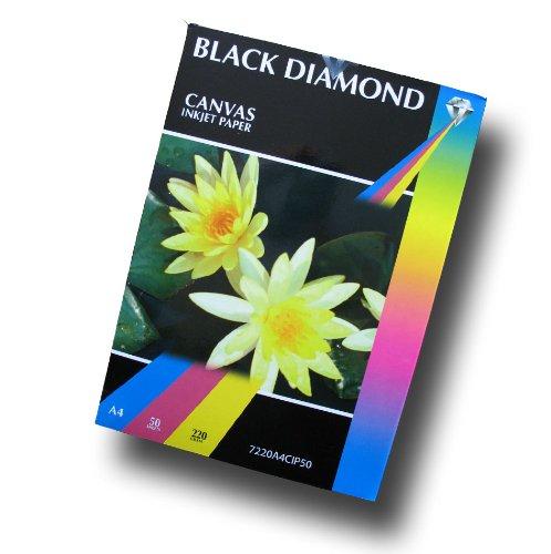 Eine Leinwandtextur schweres Black Diamond inkjet Papier mit Markenlogo (nicht 100% Baumwolle)