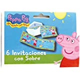 Peppa Pig - Set de 6 invitaciones con sobre (Verbetena 5652211)
