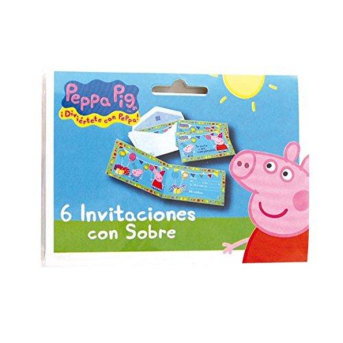 Peppa PigVerbetena 016000719 6Einladungskarten mit Umschlag, Motiv: Peppa Wutz (Nicht in Deutscher Sprache)