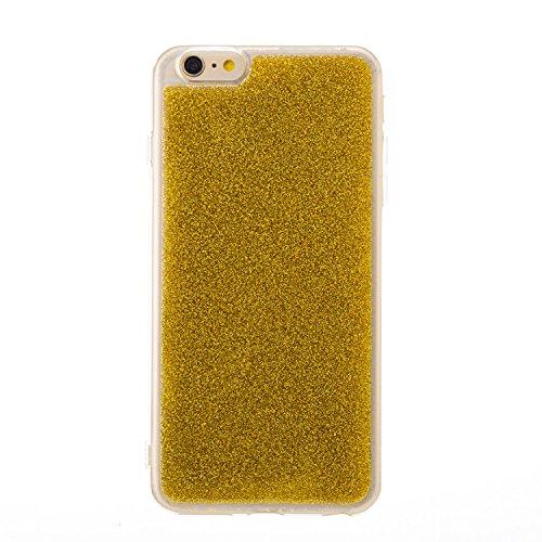 Cover iphone 6 plus Custodia iphone 6s plus Bling Anfire Silicone Morbido Cassa Flessibile TPU Gomma Cristallo Protettiva Case per iphone 6 plus / 6s plus (5.5 Pollici) Antiurto Diamante Placcatura Co Giallo