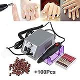 Trapani e accessori elettrici per manicure rettificatrice elettrico di chiodo e strumenti fresa per unghie di manicure Bianco 100 levigatura bande
