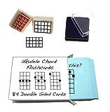 Débutant ukulélé Coffret cadeau (Chord flashcards personnalisables et ukulélé Chord Tampon et pad)