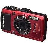 """Olympus - Cámara de fotos subacuática de 16 MP (pantalla de 3"""", zoom óptico 4x, estabilizador digital, grabación de video Full HD, WiFi, GPS), rojo - kit cuerpo con luz guía TG-4 KIT y LG-2"""