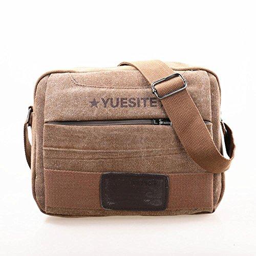 Unisex beiläufige Art und Weise Leinwand Umhängetasche kleine Tasche Messenger bag Multifunktions-Outdoor-Reisetasche 3