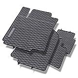 Mossa Tapis de sol caoutchouc - Set de 4 tapis de pieds - ajustement parfait - noire...