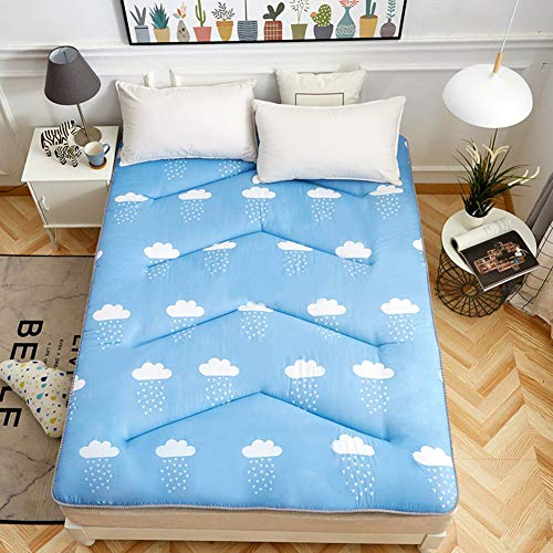 EEvER Schlafmatte Bequeme Matratze Tragbare Faltbare Tatami-Fußmatte, Matratze Topper Königin-König traditionelle japanische Futon waschbar-C 150x200 cm (59x79 Zoll)