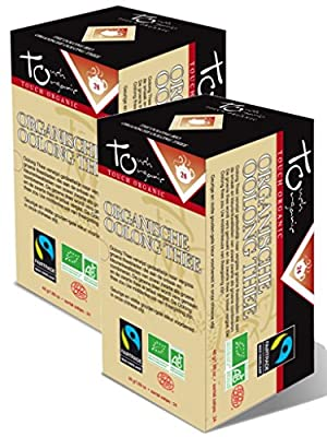 Touch Organic - Thé Oolong bio en sachets - Lot de 2 Boites de 24 Sachets