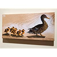 Personalised Mothers Day Gift | Duck and Ducklings Daughters and Sons Handmade art - Choose number of ducks | Spraypainted on Wood to order | Sizes vary
