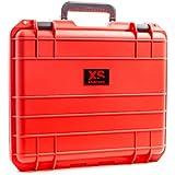 Xsories Huge Black Box - HBB02A009- Custom - Mallette étanche IP67 et antichoc protection transport -pour votre matériel GoPro - Rouge(XXL) - 18 Litres