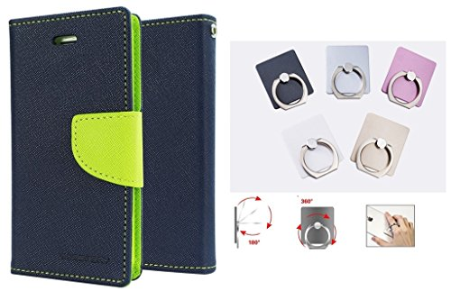 Epayista Mercury Goospery Fancy Diary Card Wallet Flip Case Back Cover for Sony Xperia M/ C 1905 (Blue & Green) + 360° Rotate Metal Mobile Holder Finger Ring  available at amazon for Rs.269