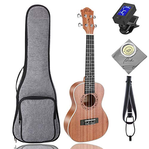 Concert Ukulele Ranch 23 Zoll 5 in 1 Uke Bundle mit 12 Online-Lektionen