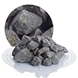 Schicker Mineral Basaltsplitt anthrazit 25 kg in den Größen 8-16 mm, 16-22 mm, 16-32 mm, 32-56 mm, ideal zur Gartengestaltung, schwarzer Naturstein Splitt (Basalt Splitt, 16-32 mm)
