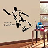 Walplus Wandsticker Wand Aufkleber Papier Kunst Dekoration Fußball Stürmer Sport Familienzimmer Wohnzimmer