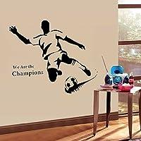 Walplus Wandsticker Wand Aufkleber Papier Kunst Dekoration Fußball Stürmer Sport Familienzimmer Wohnzimmer von Walplus