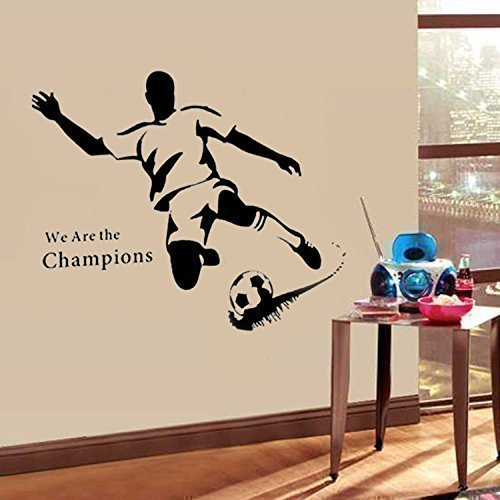 (Walplus Wandsticker Wand Aufkleber Papier Kunst Dekoration Fußball Stürmer Sport Familienzimmer Wohnzimmer)