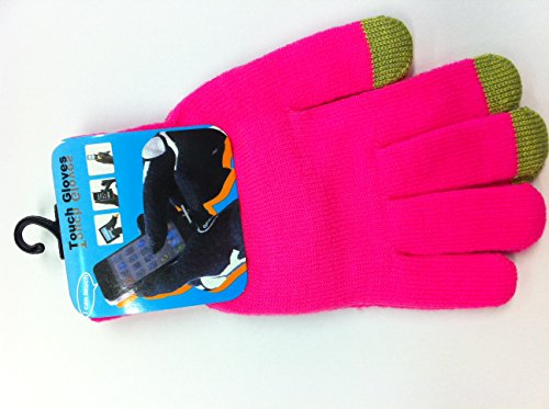 adults-neon-pink-touch-screen-gloves