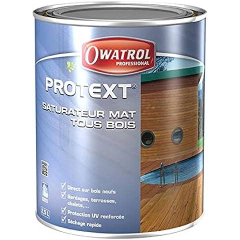 Wenko 52621100PROTEXT–mate todos madera en fase aqueuse–Owatrol Pro–20litros), color gris grafito