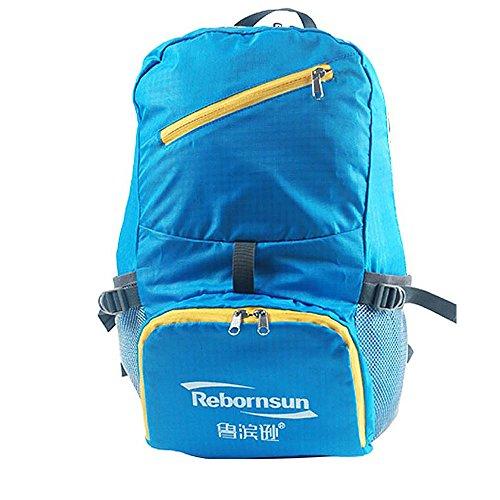 Ranbow Big Capacity pieghevole zaino Super Light viaggio Daypack 30L impermeabile, blu Blu