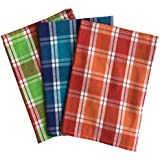 Lushomes Yarn Dyed Kitchen Towels (Pack of 3 - Multicolour, COKTP3_1001)