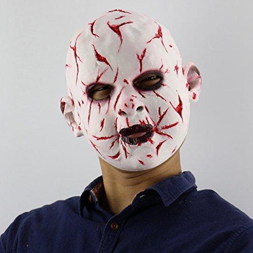Haoxiaren Masken Für Erwachsene Blutige Gesicht Fratze Puppe Maske Schreckliche Dämon Nach Scary Cosplay Requisiten