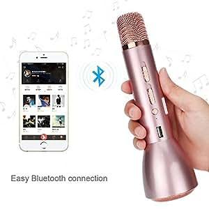 microphone bluetooth sans fil fjoy k088 micro karaok commandes dynamiques microphone. Black Bedroom Furniture Sets. Home Design Ideas