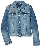 Tommy Hilfiger Trucker Jacket Nembst, Blouson Fille, Bleu (Nevada Mid Blue Stretch 911), 176 (Taille Fabricant: 16)