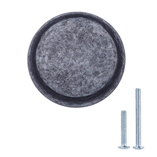 AmazonBasics Button Mushroom Cabinet Knob, 2,9 cm Durchmesser,Antik-Silber, 25-Packung