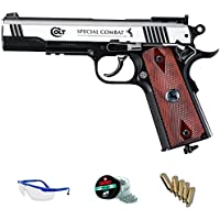 PACK pistola de aire comprimido Umarex Colt Special Combat - Arma de CO2 y balines BBs (perdigones de acero) full metal <3,5J