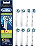 Oral-B CrossAction Electric Toothbrush Replacement Heads Powered by Braun - Pack of 8