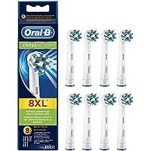 Oral-B Testine di Ricambio per Spazzolino Elettrico CrossAction, Confezione da