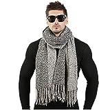 SHUX écharpe Design De Mode Hommes Laine d'hiver Tricoté Cachemire Écharpe Couple Qualité Épais Chaud Long